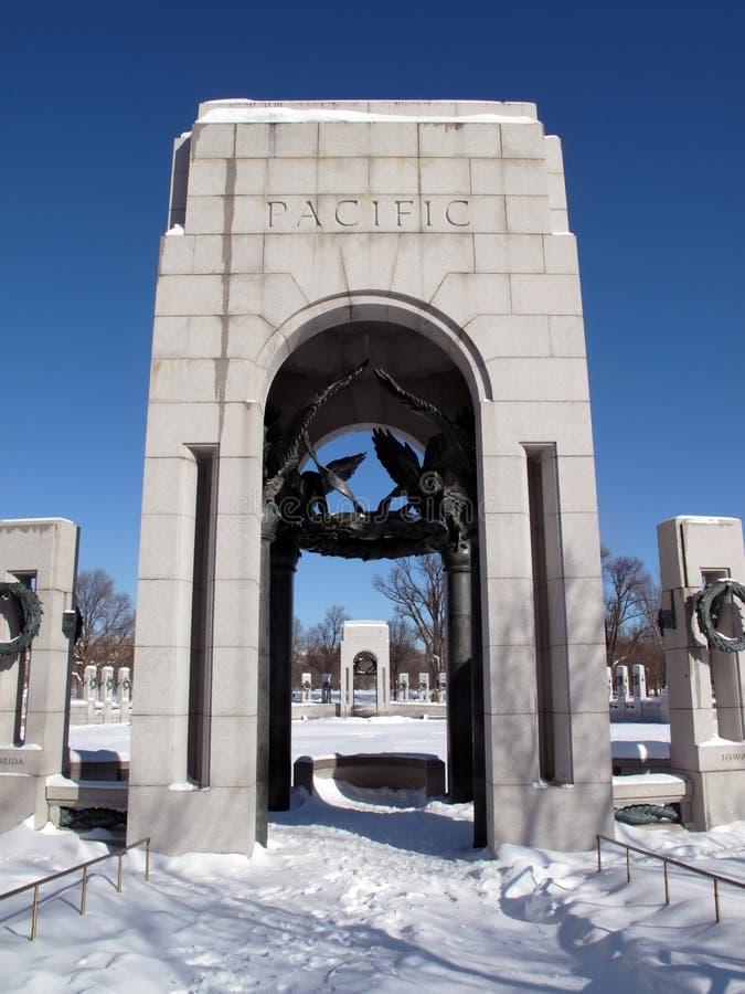 Portales del monumento de la Segunda Guerra Mundial foto de archivo