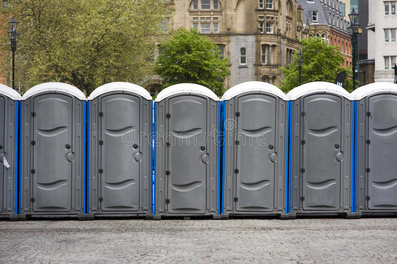 Portaloos At An Outdoor Event Stock Images