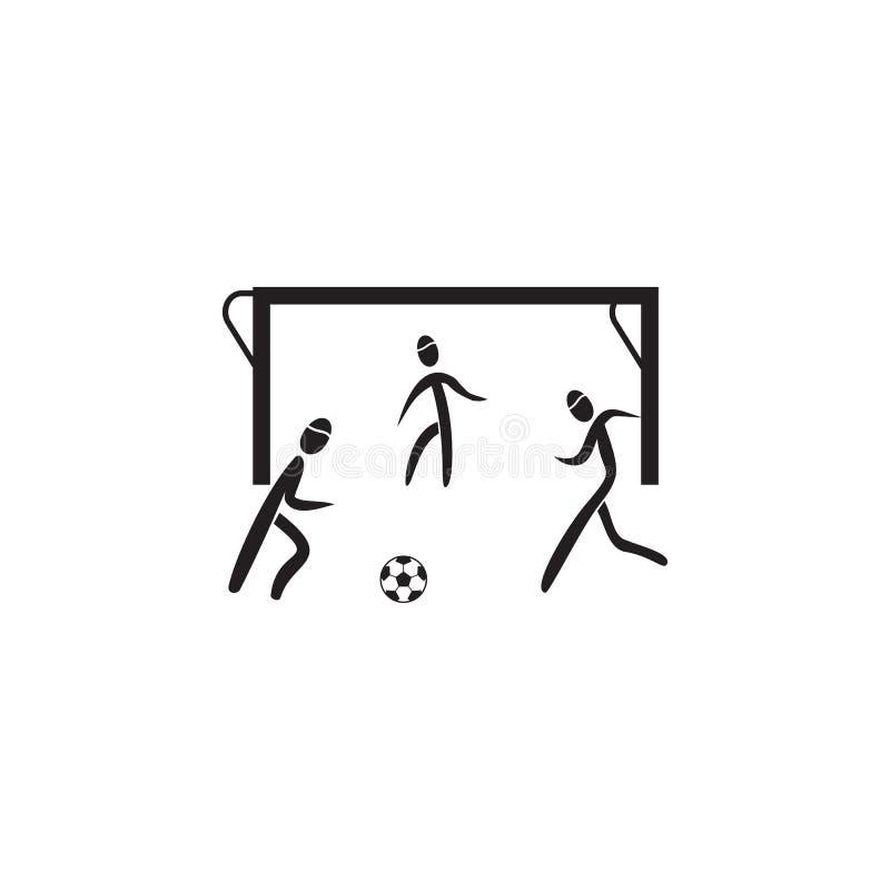 portar i symbol för fotbolllek Beståndsdel av diagram av idrottsmansymbolen Högvärdig kvalitets- symbol för grafisk design Tecken vektor illustrationer
