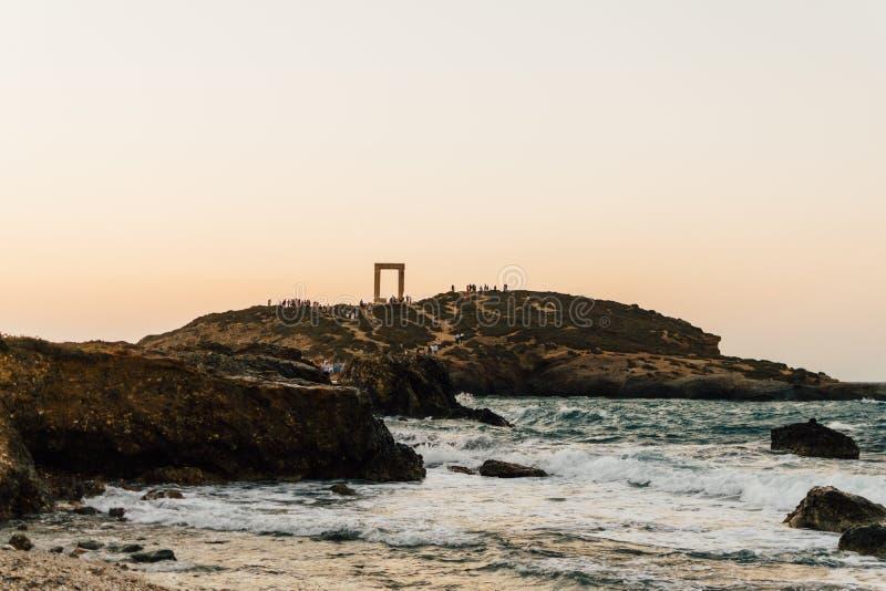 Portara en la isla de Naxos, Grecia imágenes de archivo libres de regalías