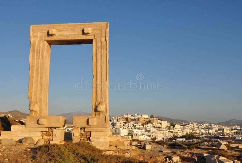 Portara Naxos immagini stock