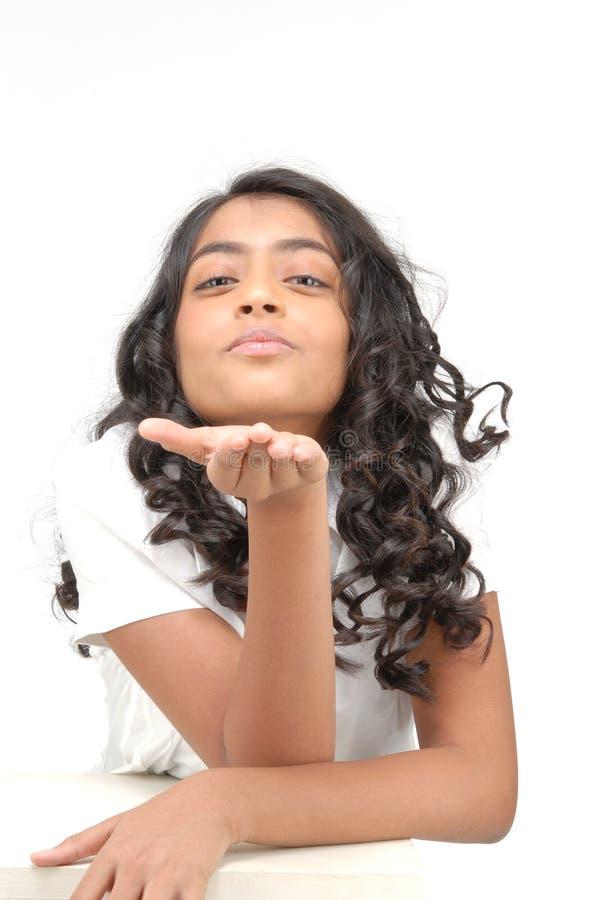 Portarit da menina bonita indiana imagem de stock