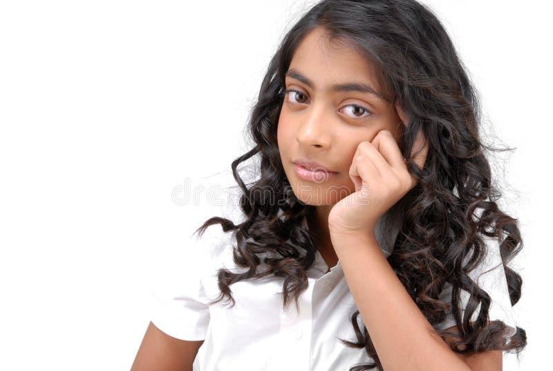 Portarit da menina bonita indiana fotografia de stock