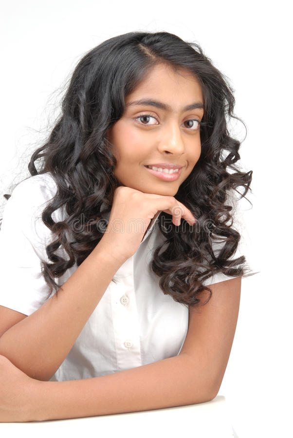 Portarit da menina bonita indiana foto de stock royalty free