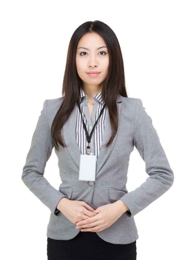 Portarit da mulher de negócios de Ásia fotografia de stock