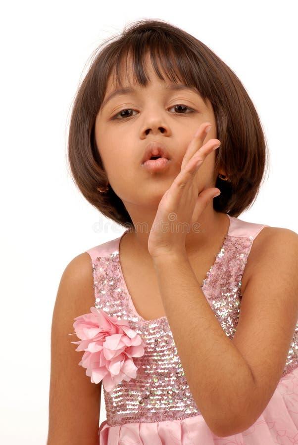 Portarit des indischen kleinen Mädchens lizenzfreies stockbild