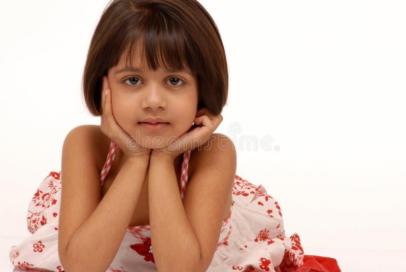 Portarit des indischen kleinen Mädchens stockfotos