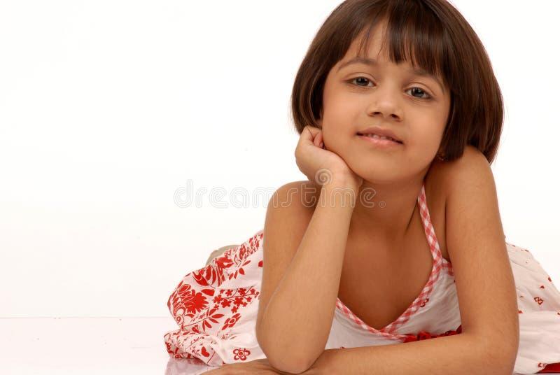 Portarit des indischen kleinen Mädchens lizenzfreie stockfotografie