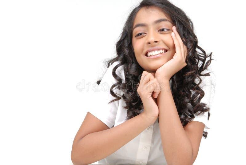 Portarit di bella ragazza indiana immagine stock