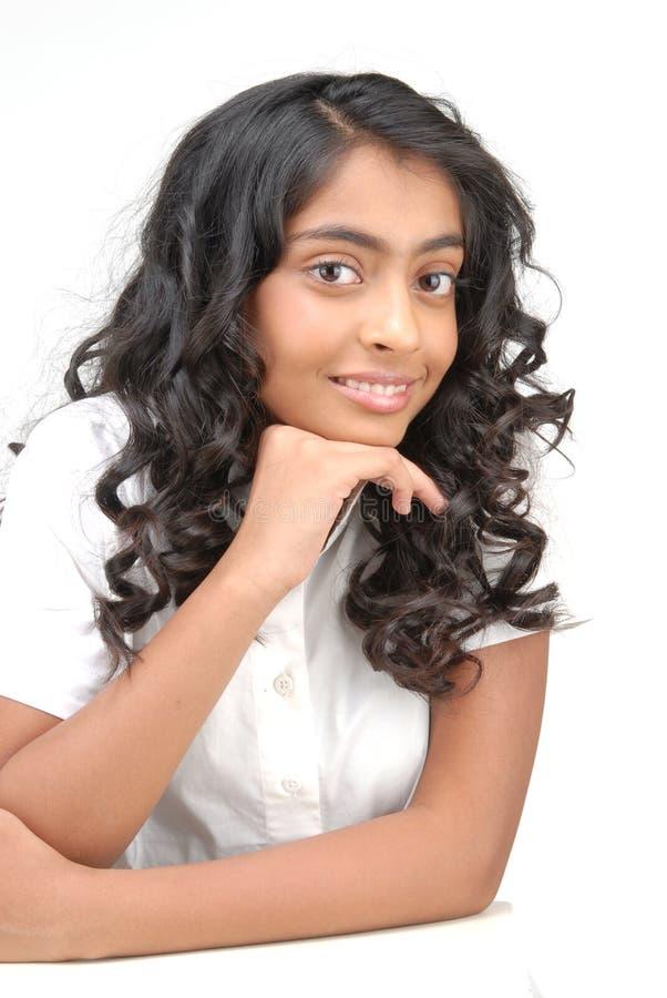 Portarit di bella ragazza indiana fotografia stock libera da diritti