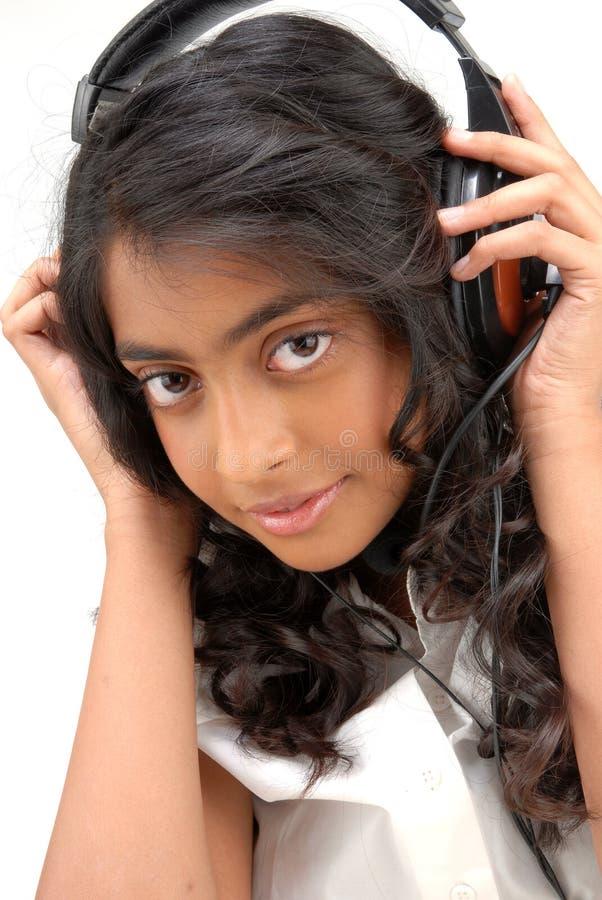 Portarit di bella ragazza indiana fotografia stock