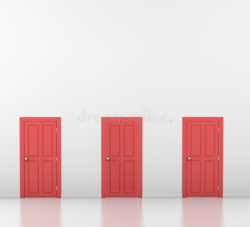 portas ilustração do vetor