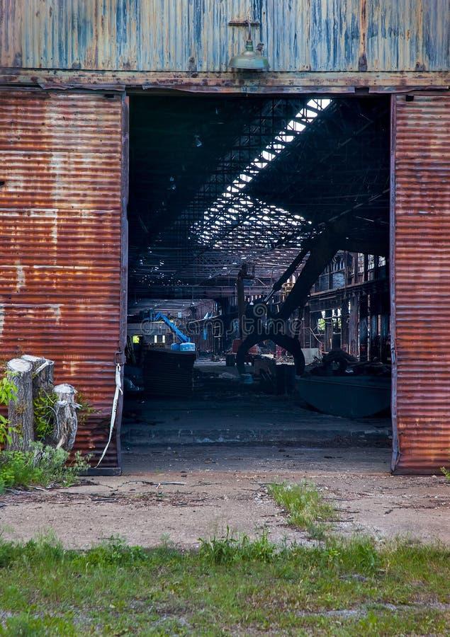 Portas abandonadas de Steelmill fotos de stock