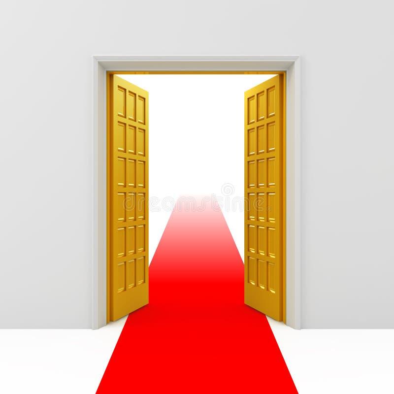 Download Portas abertas douradas ilustração stock. Ilustração de saída - 16872385