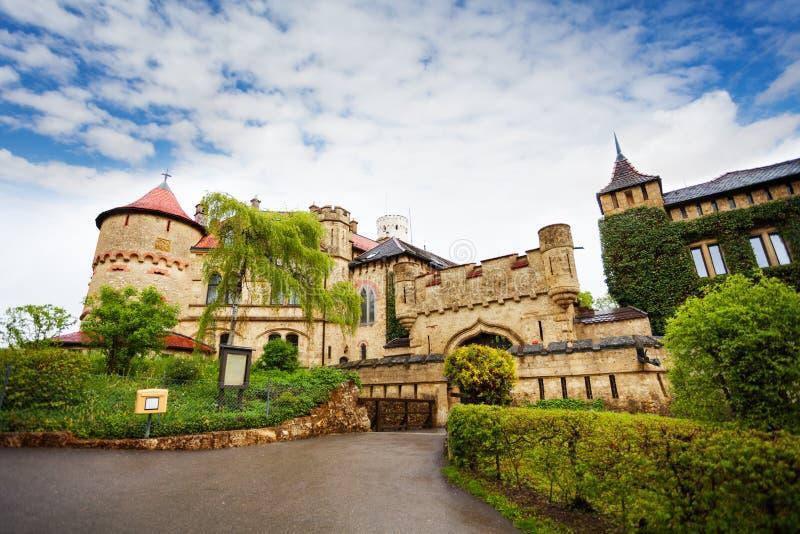 Portas ao castelo de Lichtenstein foto de stock royalty free