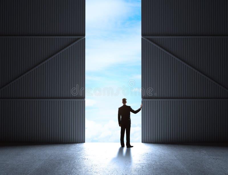 Portas ao hangar ilustração do vetor