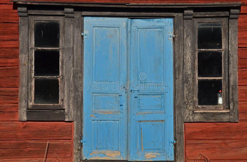 Portas azuis fotografia de stock