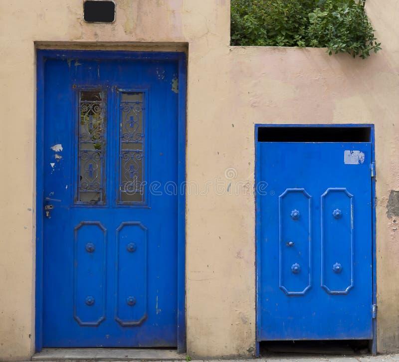 Portas azuis Neve Tzedek fotos de stock