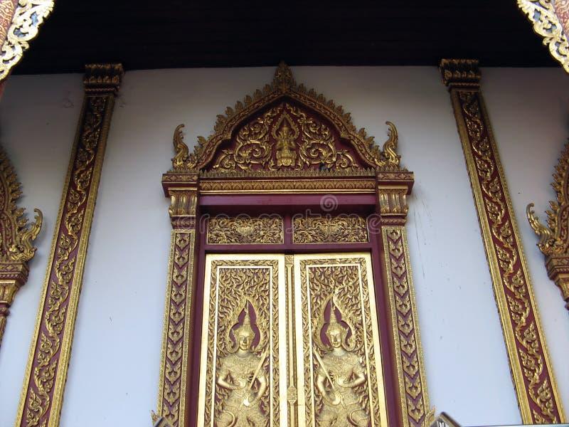 Portas budistas foto de stock royalty free