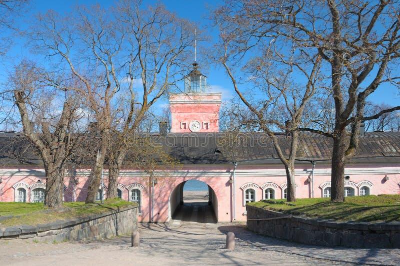 Portas da fortaleza Suomenlinna do mar fotos de stock royalty free