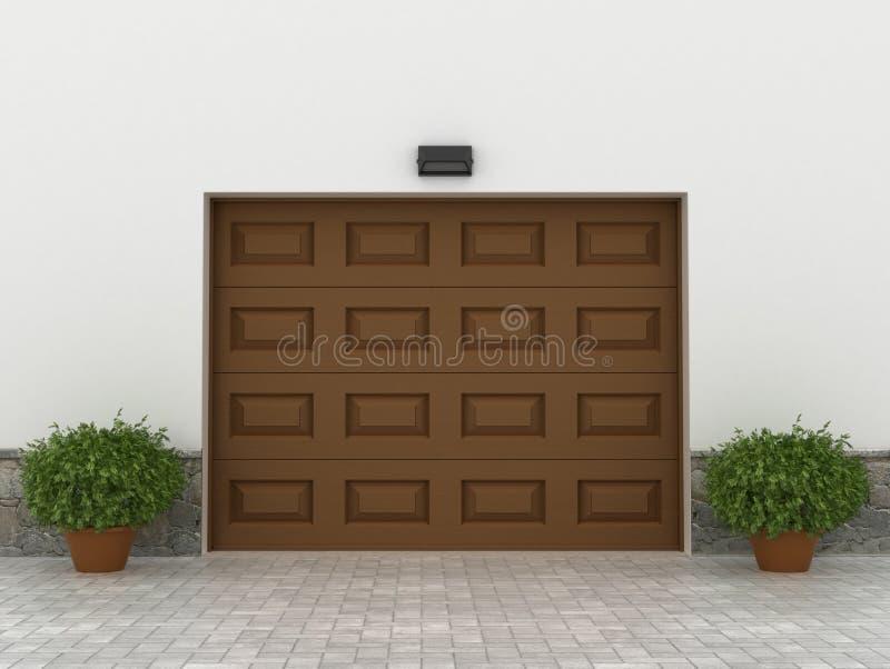 Portas da garagem ilustração royalty free