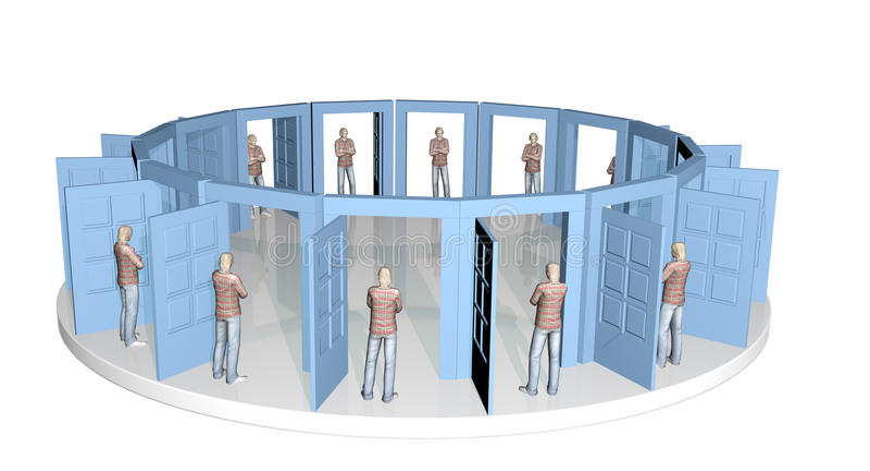 Portas da igualdade ilustração stock