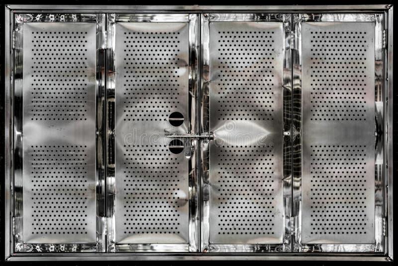 Portas de aço inoxidável fotos de stock royalty free