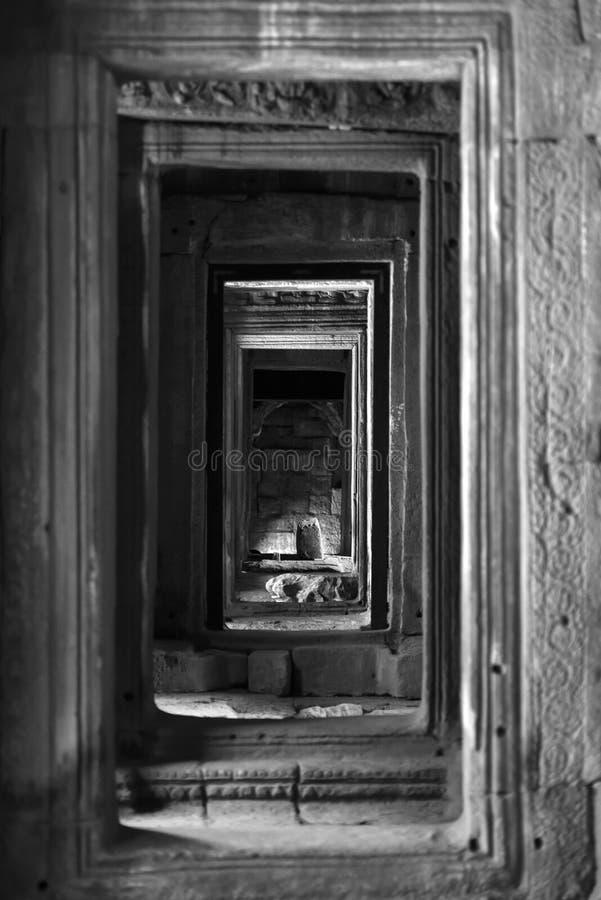 Portas de Angkor foto de stock