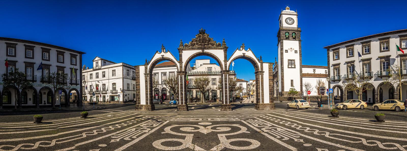 Portas de Cidade πανόραμα στοκ εικόνες