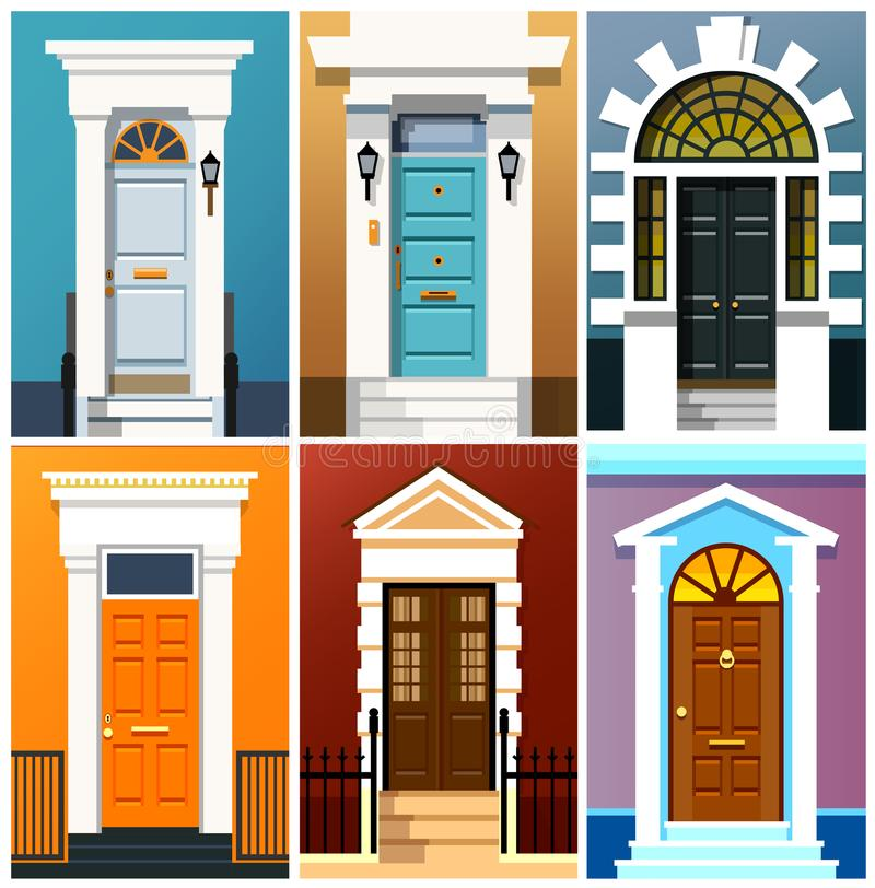 Portas de entrada ilustração royalty free