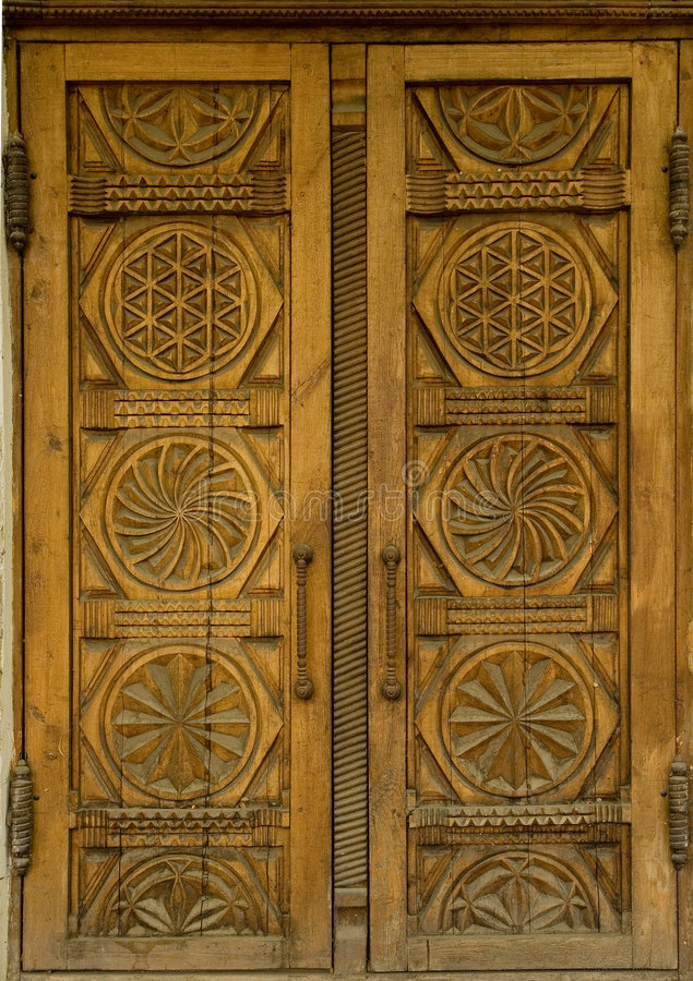 Portas de madeira foto de stock royalty free