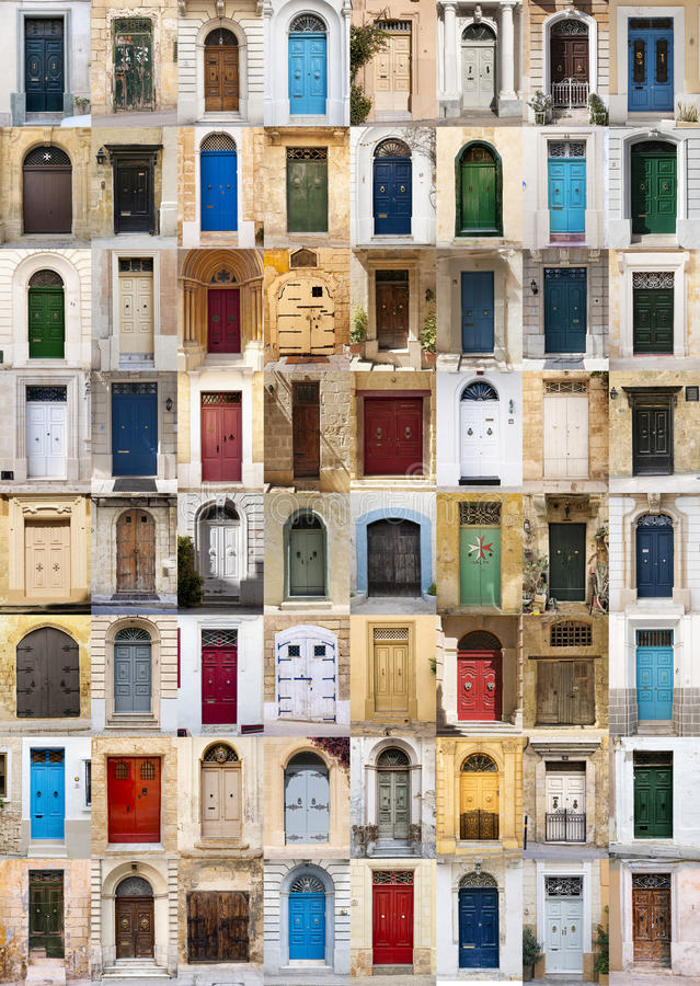 Portas de Malta imagens de stock