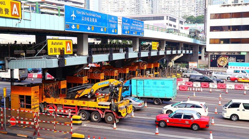 Portas de pedágio no hom pendurado, Hong Kong imagem de stock