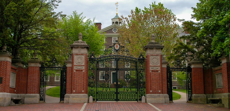 Portas dianteiras históricas de Brown University foto de stock royalty free