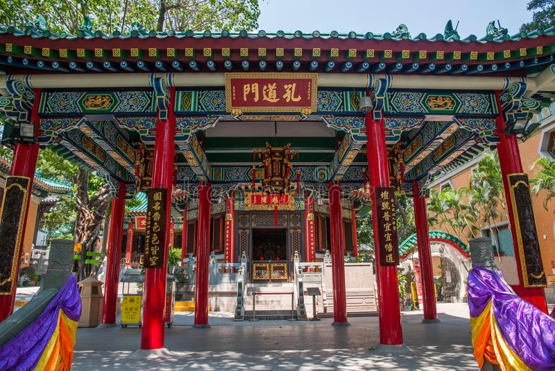 Portas do túnel de Wong Tai Sin Temple, Linge foto de stock