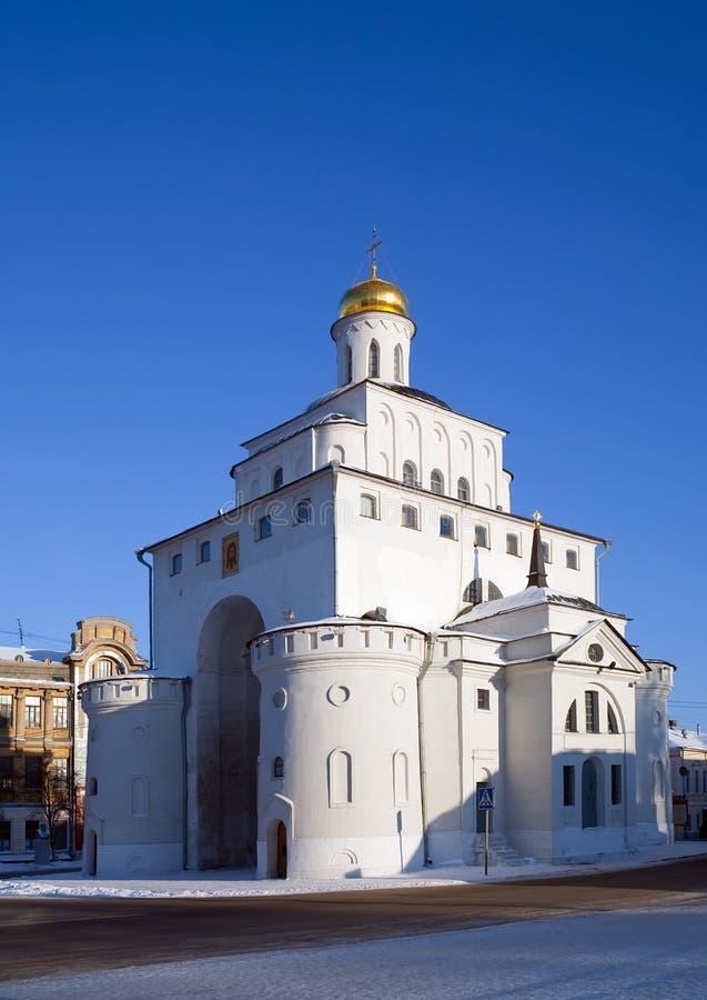 Portas douradas em Vladimir fotos de stock royalty free