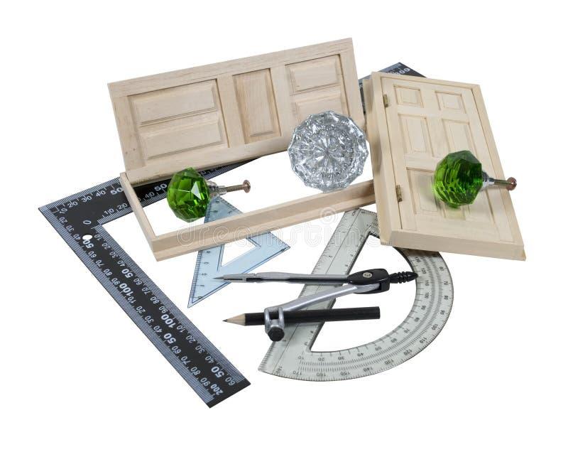 Portas e réguas de cristal do Doorknob foto de stock royalty free