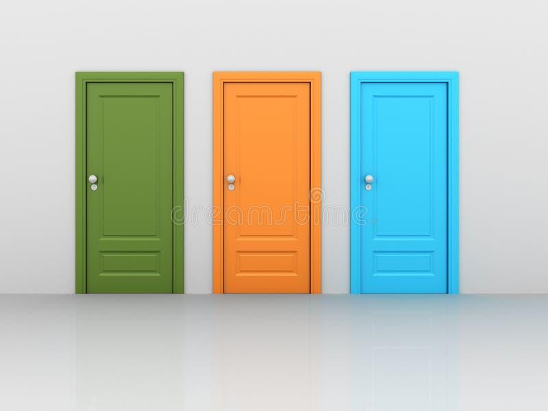 Portas fechados isoladas ilustração do vetor
