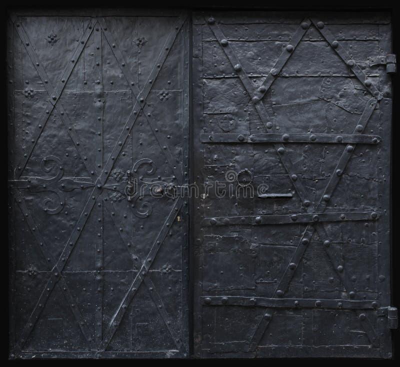 Portas góticos do ferro preto imagem de stock royalty free