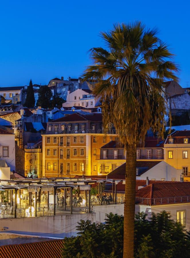 Portas gör solenoid i Lissabon royaltyfria foton