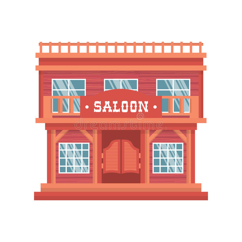 Portas ocidentais do bar ilustração stock