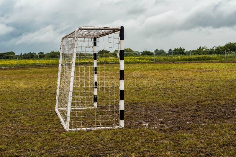 Portas para o mini futebol imagem de stock royalty free