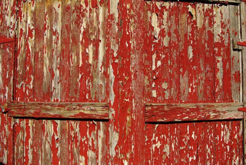 Portas vermelhas velhas A foto de stock royalty free