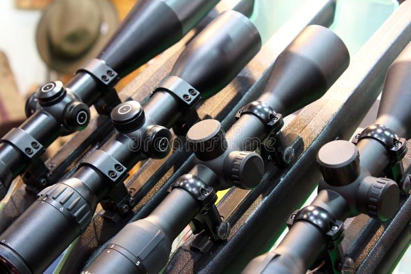 Portata del tiratore franco per il fucile immagini stock libere da diritti