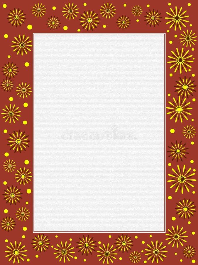 Portata floreale illustrazione di stock