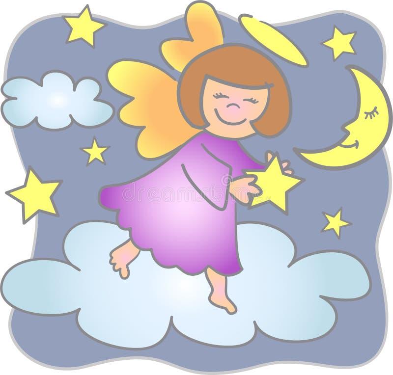 Portata per l'angelo/ENV delle stelle royalty illustrazione gratis