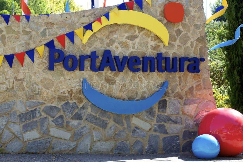 PortAventura Zeichen stockfotografie