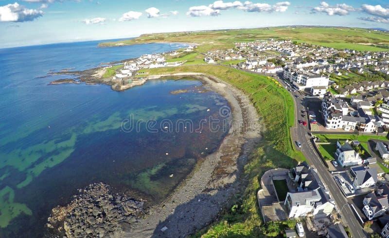 Portballintrae Co.Antrim Northern Ireland. Ireland Dunluce Castle rathlin island gles of antrim green glens Giants Causway royalty free stock photos