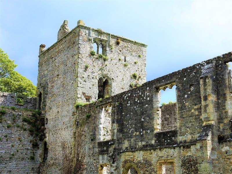 Portchester城堡 免版税库存图片