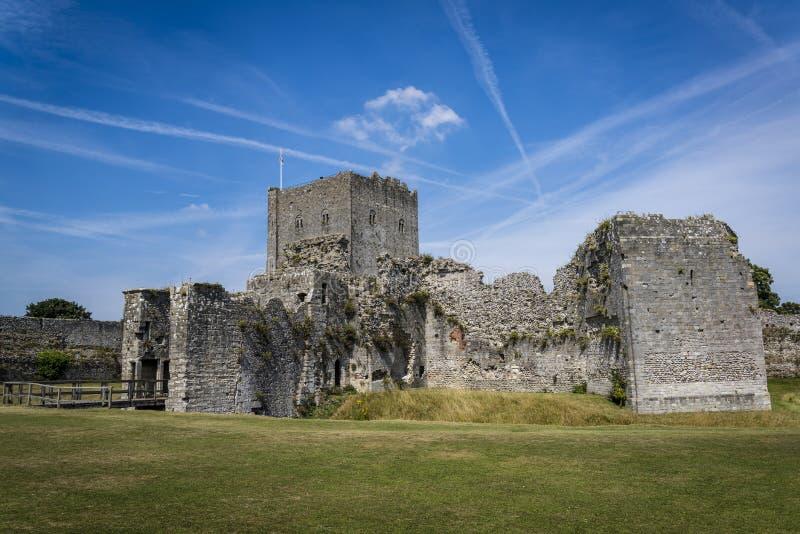 Portchester Castle, Χάμπσαϊρ, Αγγλία, UK στοκ φωτογραφία